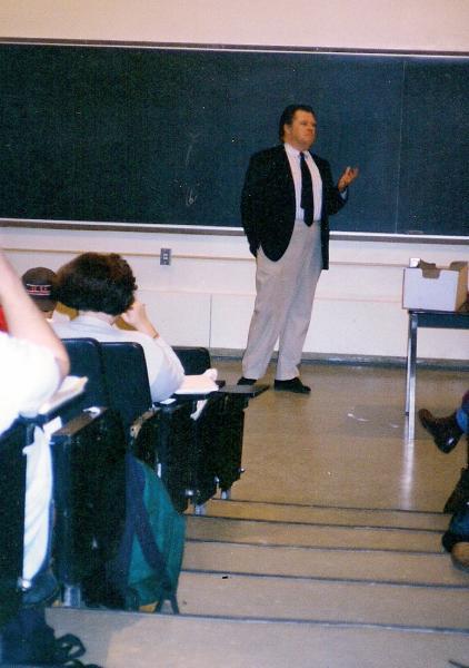 Carey McWilliams in classroom