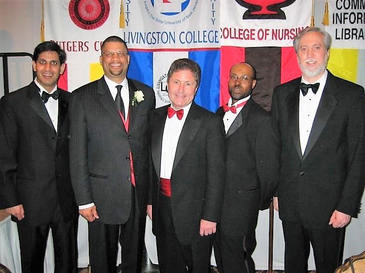 2004 Rutgers University Hall of Distinguished Alumni: Yash Dalal, Edward (Eddie) Jordan, Richard L. McCormick, Arnold Hyndman, Clifton Lacy