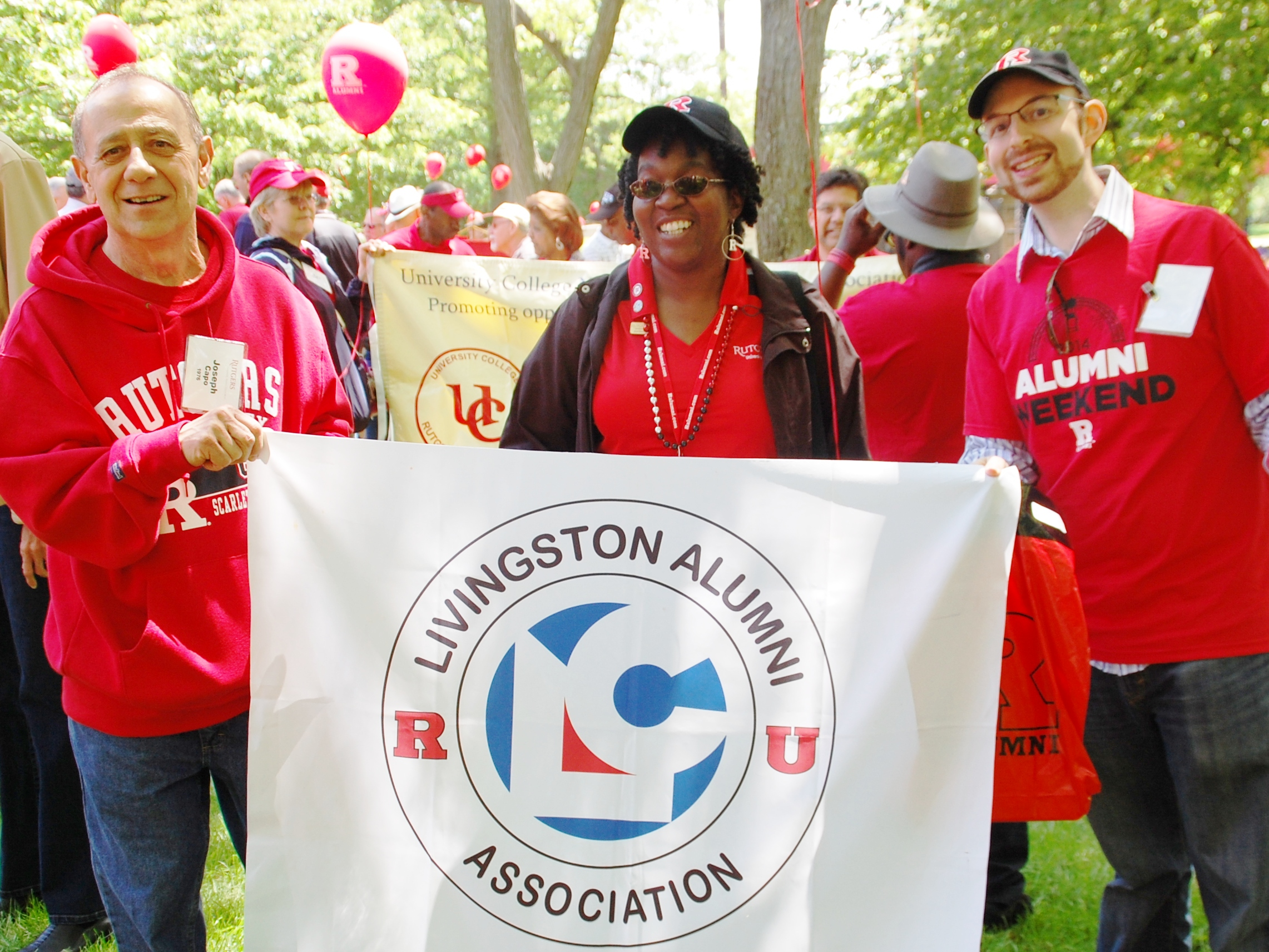 Joe Capo, Debra O'Neal and Jason Goldstein. Rutgers University Alumni Weekend (Reunion) 2014. Livingston College